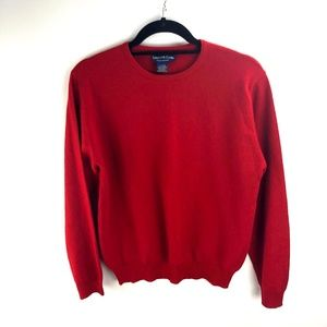 Charter Club Red Cashmere Crewneck Sweater Size M